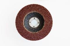 起皱的导线长凳研磨机轮子,堆m的磨蚀盘 库存照片