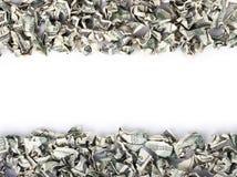 起皱的现金框架 免版税库存图片