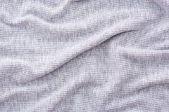 起皱纹的灰色织品 库存照片