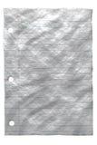 起皱纹的纸张 免版税库存图片