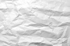 起皱纹的纸白色 免版税库存图片