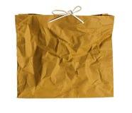 起皱纹的纸袋。 免版税库存照片
