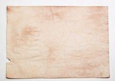起皱纹的老pape 免版税库存照片