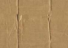 起皱纹的被撕毁的皱纸板 免版税库存照片