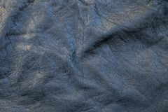 起皱纹的黑皮革 免版税图库摄影