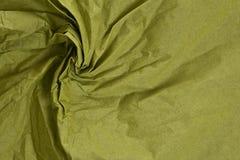 起皱纹的织品绿色纹理 库存图片