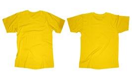 起皱纹的黄色衬衣模板 免版税库存图片