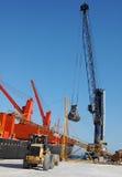 起重机在港口 库存照片