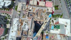 起重机在街市迈阿密 股票视频