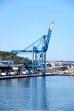 起重机在Paola船坞,马耳他 库存图片