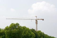 起重机塔 免版税图库摄影