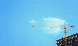 起重机建筑大厦 免版税库存图片
