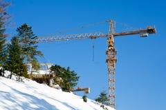 起重机建筑机械大厦设备 免版税库存图片