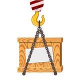 起重机异常分支和木箱 向量例证