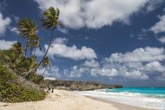 起重机海滩,巴巴多斯,印度西部 免版税库存照片