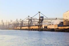 起重机端口海运 免版税库存照片