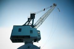 起重机造船厂 库存照片