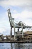 起重机霍巴特巨大的塔斯马尼亚岛码头 库存图片