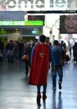 超人在罗马 免版税图库摄影