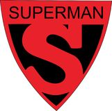 超人S标志商标1939年世博会 免版税库存图片