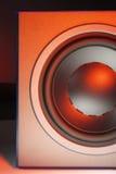 黑超低音扬声器 库存图片