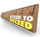 超出成功额外信用超出了统治者 库存例证