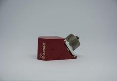 超声波探伤试验设备的角度探针 库存照片