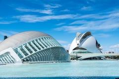 超奥林匹克中心的现代大厦在巴伦西亚 库存图片