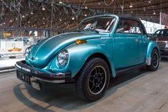 超小型汽车大众甲壳虫Cabrio, 1973年 免版税库存照片
