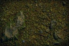 超橙色地面在火星,土地纹理,沙子表面,石背景喜欢 免版税库存照片