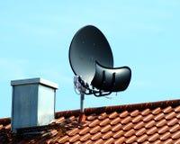 超环面天线的卫星 库存图片