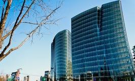 超现代大厦在汉城,南韩 免版税库存图片