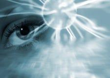 超现实抽象的眼睛 免版税库存照片