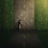 超现实的垂直的路。 库存图片