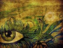 超现实的夏天眼睛 皇族释放例证
