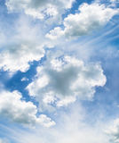 超现实的抽象云彩,天空背景 免版税图库摄影