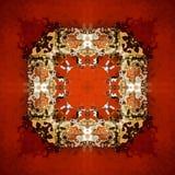 超现实的方形的样式-红色抽象正方形 免版税库存图片