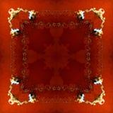 超现实的方形的样式-红色抽象正方形 库存照片