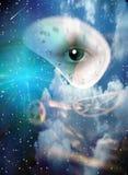 超现实的眼睛 库存例证