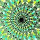 超现实的背景/绿色分数维螺旋花 库存照片