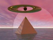 超现实的金字塔 库存例证