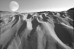 超现实的moonscape 免版税库存图片