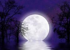 超现实的moonscape 库存照片