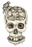 超现实艺术的头骨 免版税库存图片
