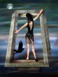 超现实dreamscape哥特式的公主 库存图片