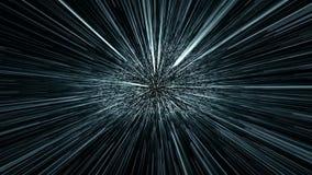 超空间跃迁,时间机器, 4K录影动画 皇族释放例证
