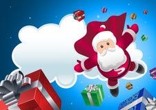 超级以后的圣诞老人 免版税库存照片