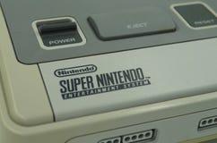 超级任天堂SNES经典电子游戏控制台 库存照片