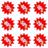 超级兆销售和折扣广告标签 皇族释放例证
