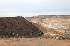 超级坑金矿澳洲 免版税库存图片